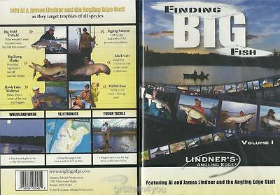 Lindner Fishing Finding Big Fish Bass Walleye Musky Catfish Salmon DVD NEW