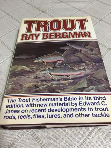 TROUT 1976 Ray Bergman 16 Pages of Fly Flies Photos Names Fishermans Bible Book