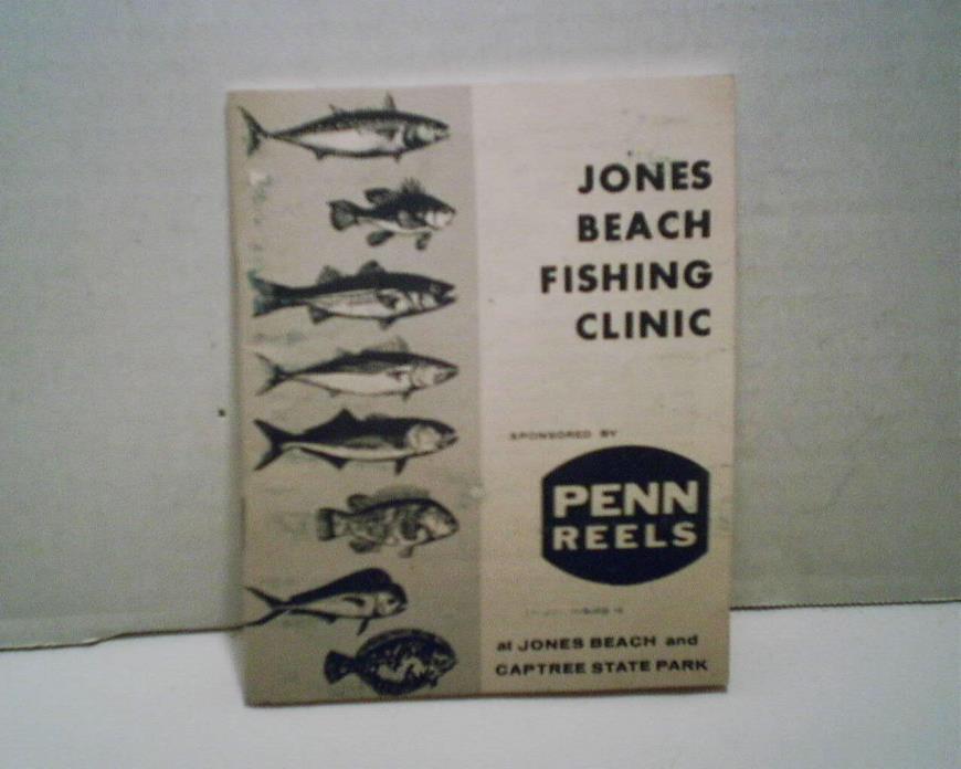 PENN REELS JONES BEACH FISHING CLINIC BOOK CIRCA 1950'S