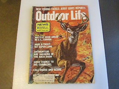 Vintage Outdoor Life Magazine November 1974 Good Condition