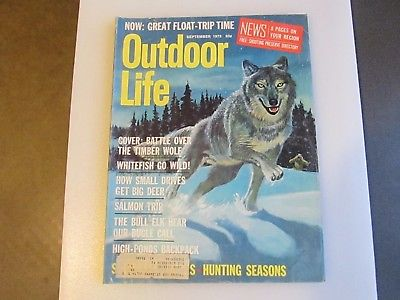 Vintage Outdoor Life Magazine September 1973 Good Condition