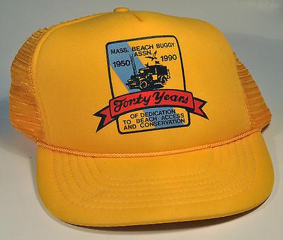 Vintage Massachusetts Beach Buggy Association Cap Hat 4oth Anniversary