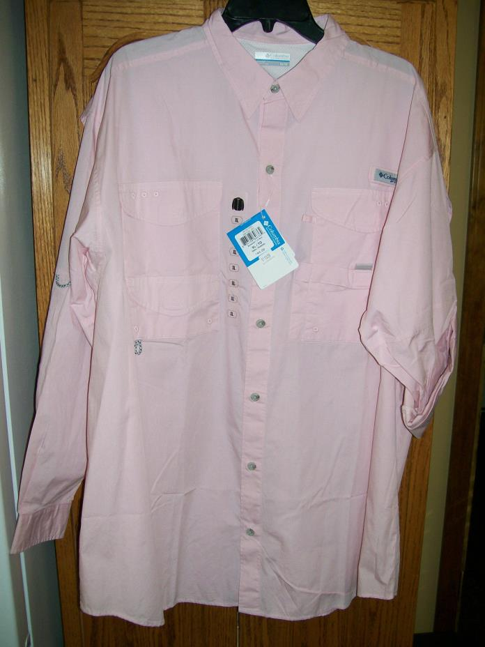 Columbia Bonehead LS Collared Shirt FM7120 952 Pink  XL, Extra Large NWT