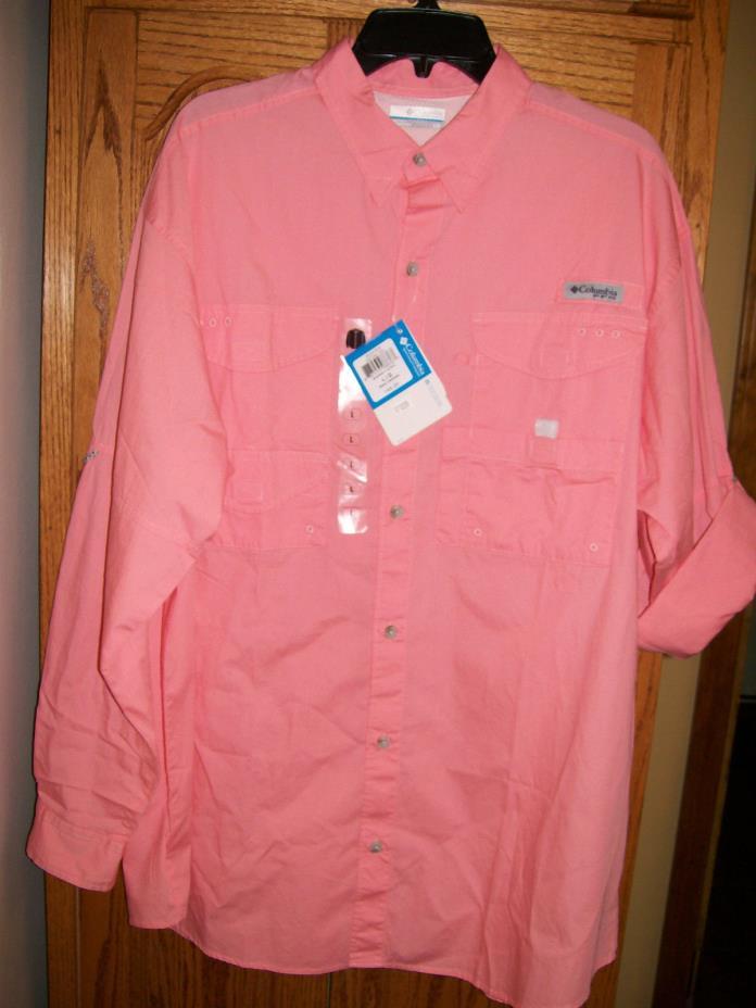 Columbia Bonehead LS Collared Shirt  FM7120 818 Sorbet Sz L Large NWT