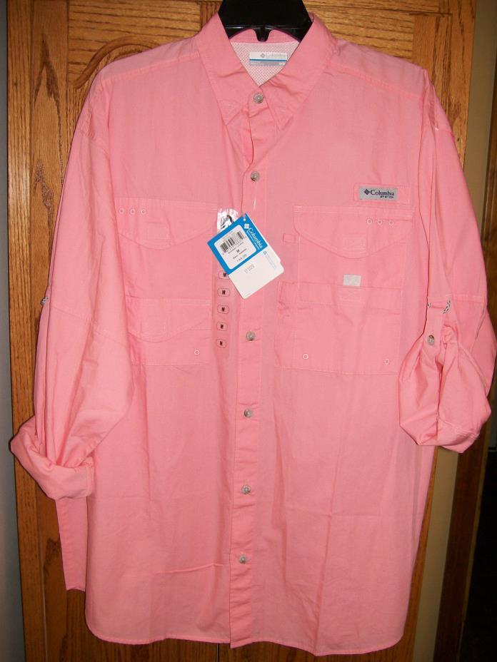 Columbia Bonehead LS Collared Shirt  FM7120 818 Sorbet Sz M Medium NWT