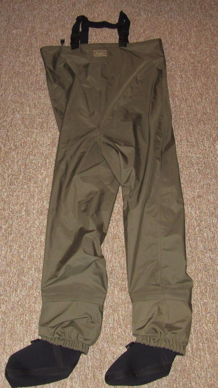 LL BEAN Flyweight Stocking Foot Fly Fishing Waders Men's Large Regular