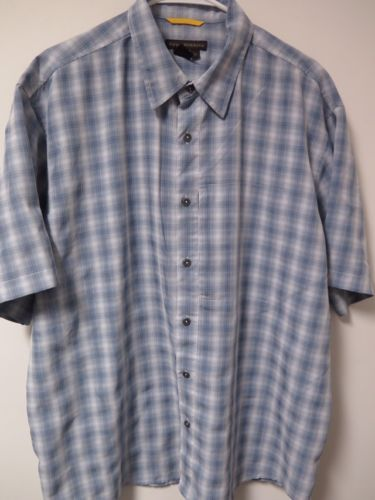 Men's Royal Robbins S/S Plaid Button Front Casual Outdoor Shirt Size XL