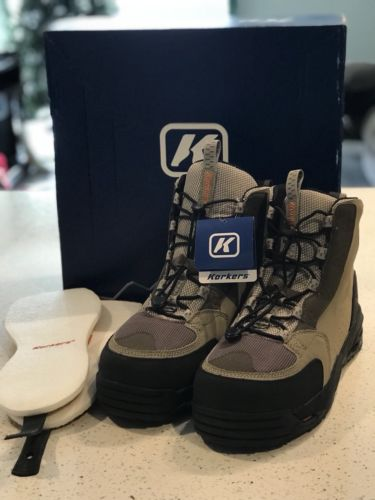 Korkers Double Haul Wading Boots-Omnitrax Interchangeable-Kling-On & Felt Soles