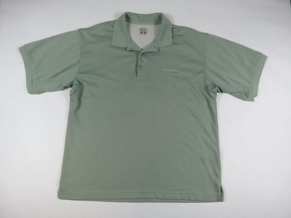 COLUMBIA PFG OMNI SHADE VENTED  SHORT SLEEVE POLO MENS SIZE M  GREEN