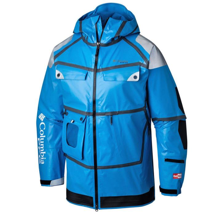 NEW $500 Columbia PFG Force 12 Outdry Extreme Waterproof Fishing Jacket XXL