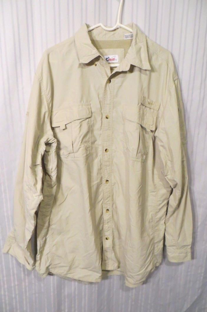World Wide Sportsman Tan Shirt Sz. XLT
