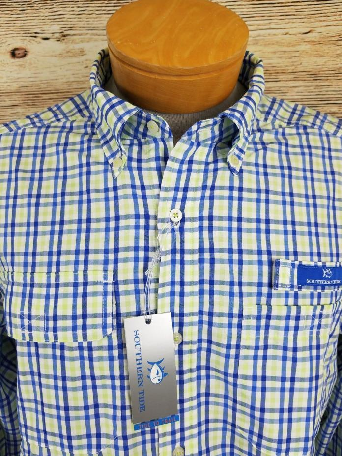 Southern Tide Mens Long Sleeve Button Performance Outdoor Shirt Size M New