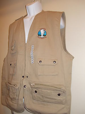 NEW Yellowstone Park mens fishing hunting vest beige XXL 2XL Extra Extra Large