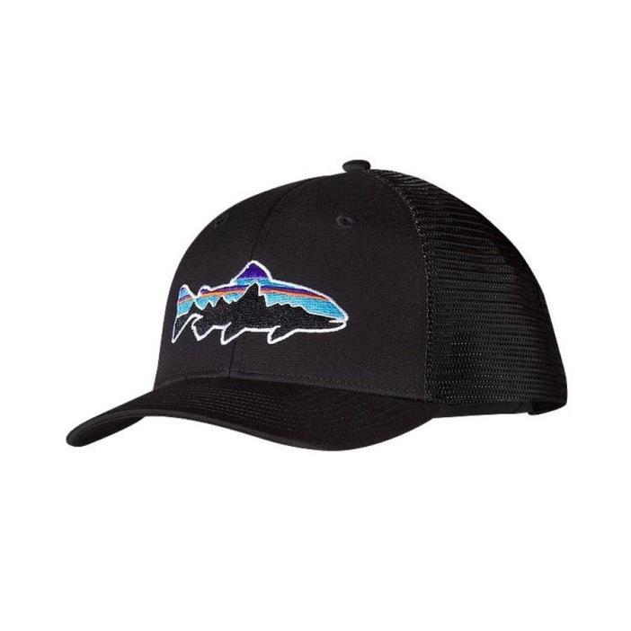 Patagonia Fitz Roy Trout Trucker Hat Black