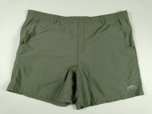 Columbia Sportswear PFG Olive Green Elastic Drawstring Shorts Men's Size: XL