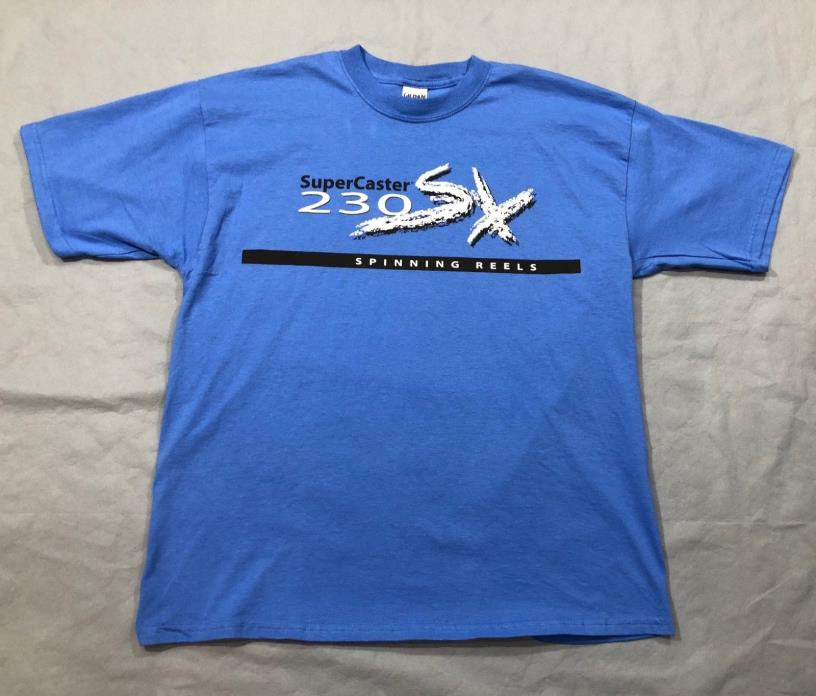 NEW! U.S. Reel SuperCaster Blue T-Shirt - 230SX Spinning Reels - X-Large