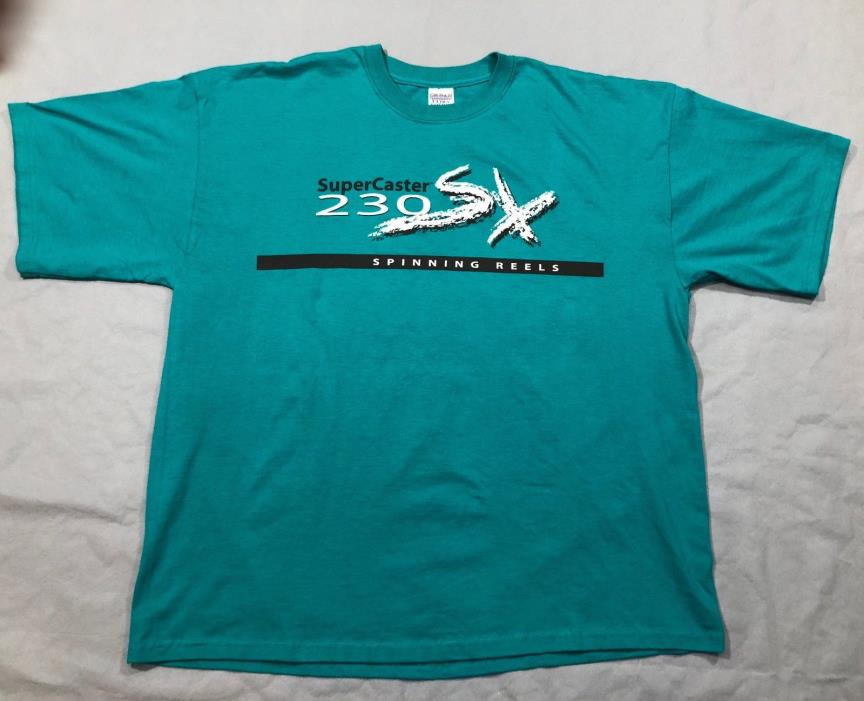 NEW! U.S. Reel SuperCaster Green T-Shirt - 230SX Spinning Reels - 2XL