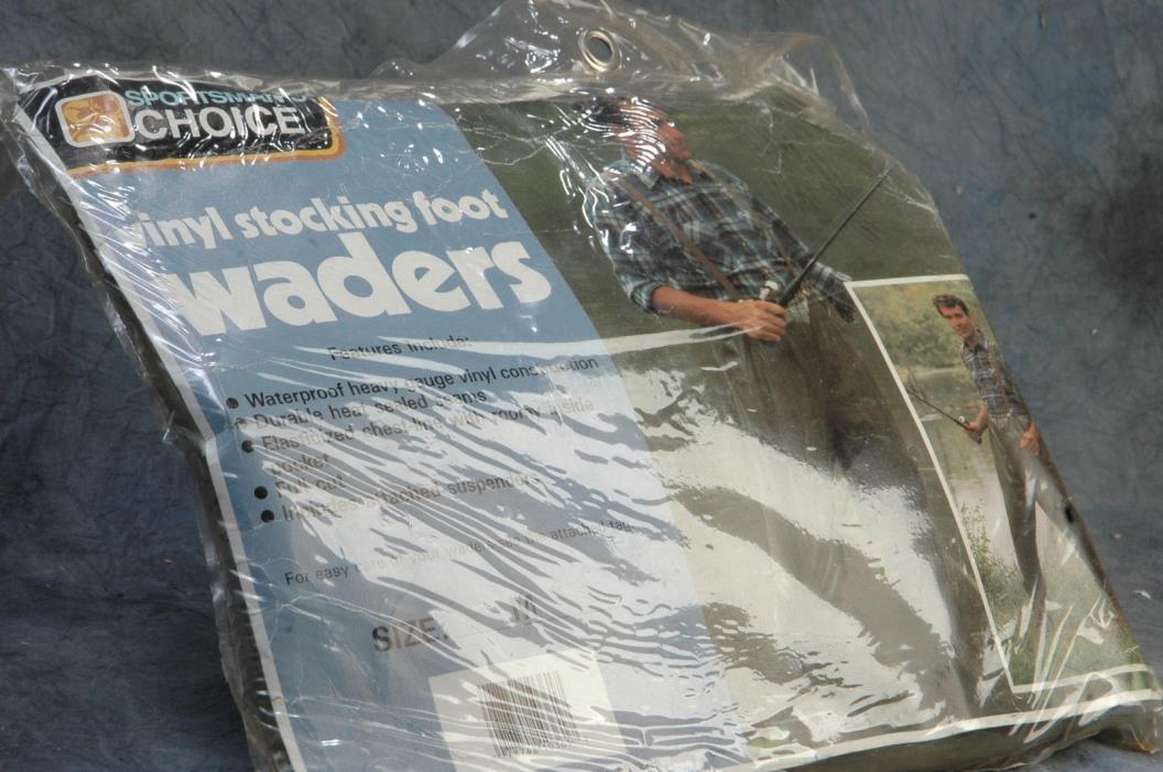 Sportsman Choice  Vinyl Stocking Waders Size Medium Unused AA398 In Package