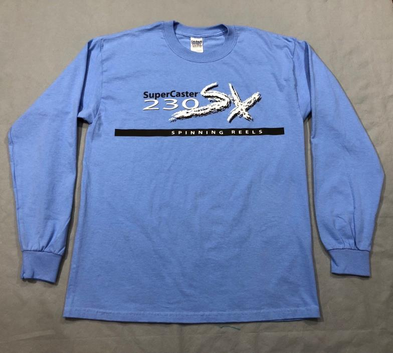 NEW! U.S. Reel SuperCaster Blue LS T-Shirt - 230SX Spinning Reels - Large