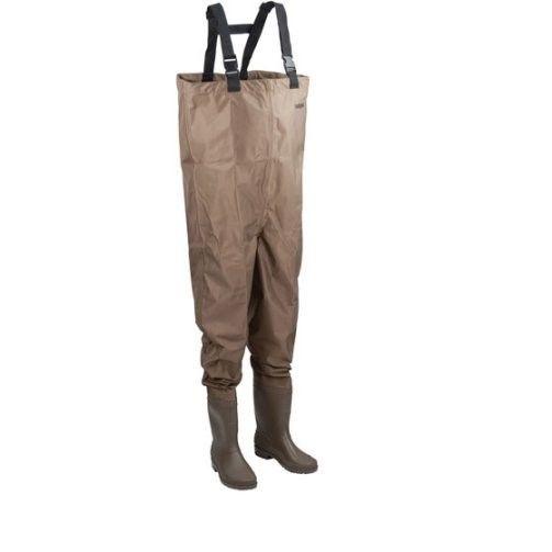 HODGEMAN MACKENZIE Men's Cleated Bootfoot Chest Fishing Waders Brown 9
