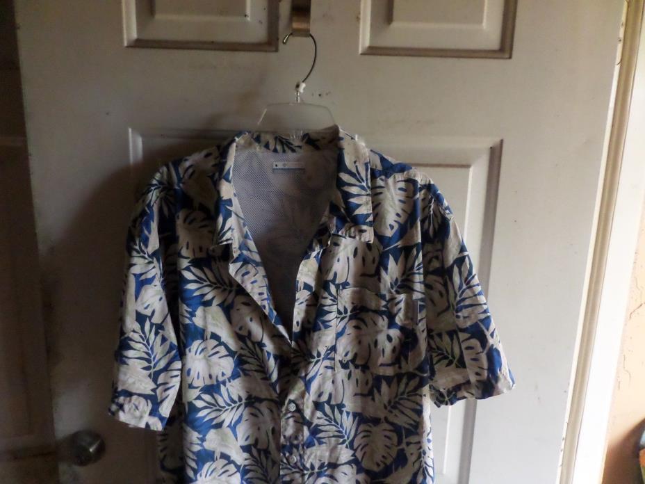 COLUMBIA Men's PFG Performance Fishing Gear Hawaiian Shirt Short sleeve size XL