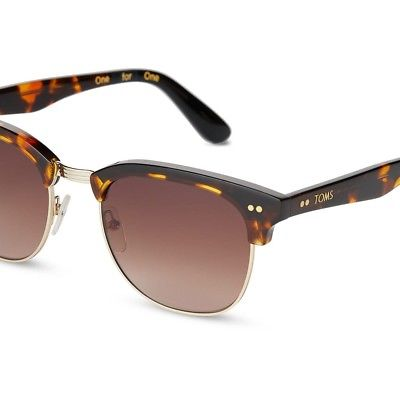 NEW TOMS WOMENS GAVIN WHISKEY TORTOISE SUNGLASSES WITH BROWN GRADIENT LENS