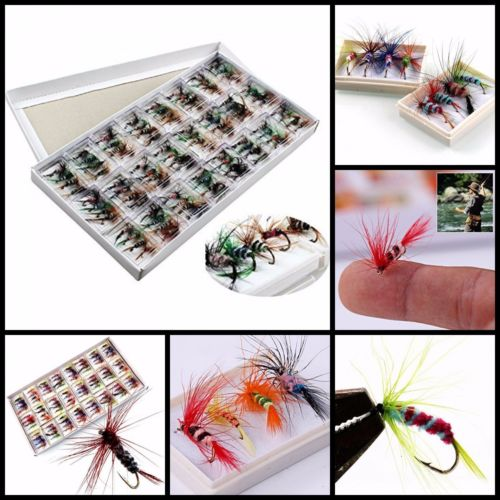 96pcs Trout Spoon Fishing Lures Spinner Baits Bass Tackle Colorful Lot OUY