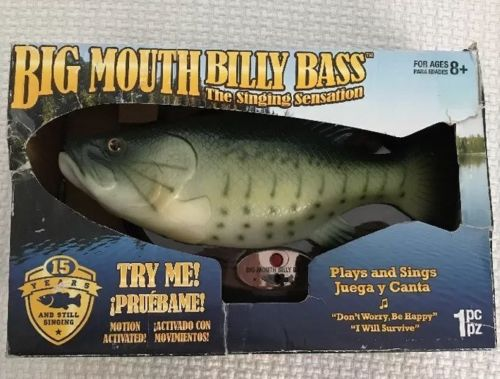Big Mouth Billy Bass Singing Fish Wall Plaque Dont Worry Be Happy I Will Survive