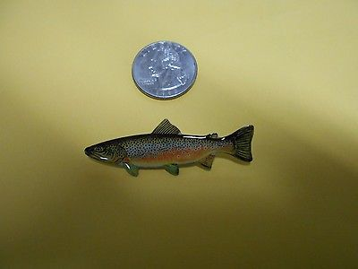 BROWN TROUT FISH LAPEL OR HAT PIN