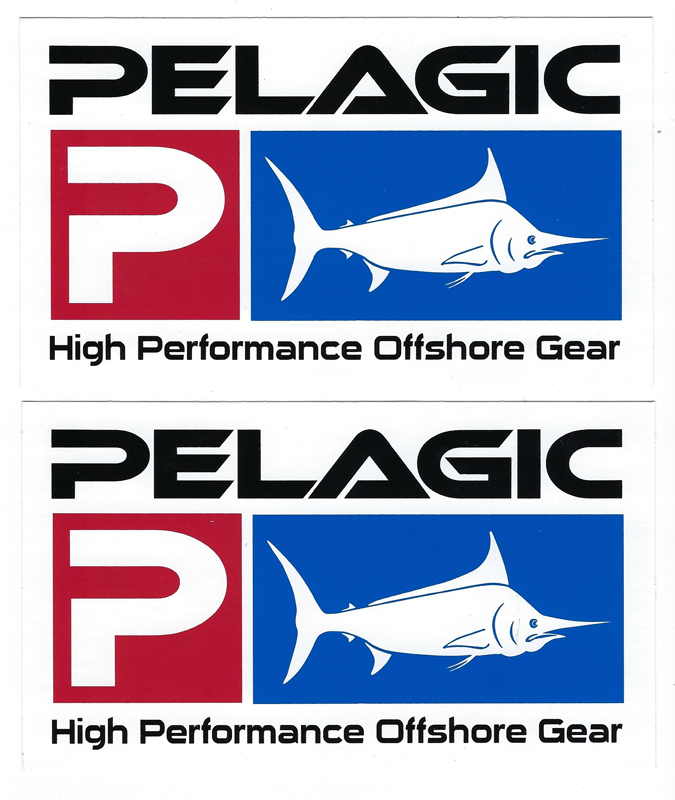 Pelagic Fishing Decals Stickers Set of 2