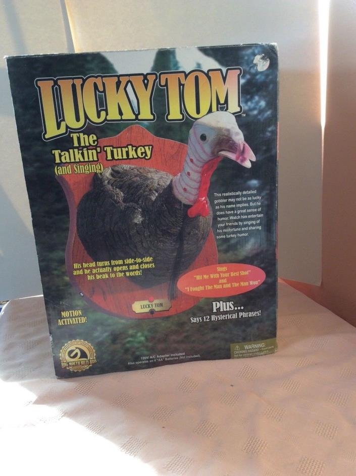 GEMMY LUCKY TOM THE TALKING TURKEY NEVER USED NIOP