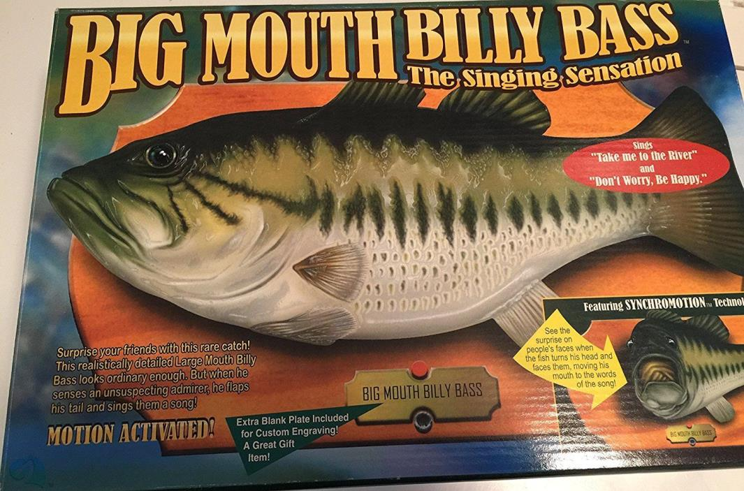 Gemmy Big Mouth Billy Bass 1998 Singing Fish Head Turns Motion Activated NIB