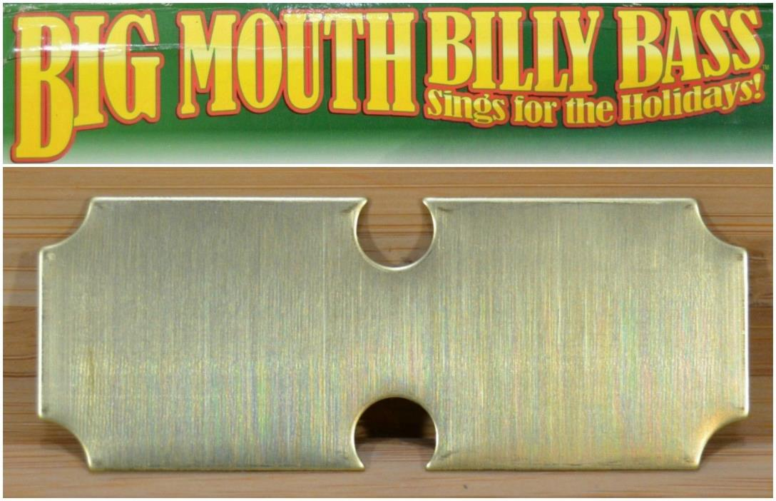 Gemmy BIG MOUTH BILLY BASS Animated Fish REPLACEMENT PART • Metal Name Plate