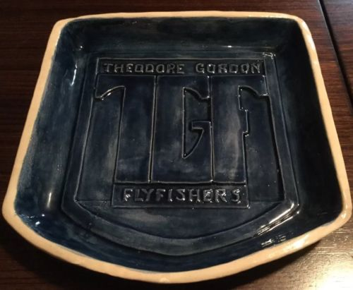 Theodore Gordon Flyfishers TGF Ceramic Plate Tray Trout Vintage