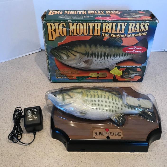ORIGINAL Big Mouth Billy Bass The Singing Sensation Singing & Motion Fish