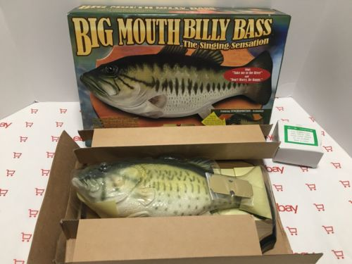 Big Mouth Billy Bass the Singing Sensation New In Box Vintage NIB