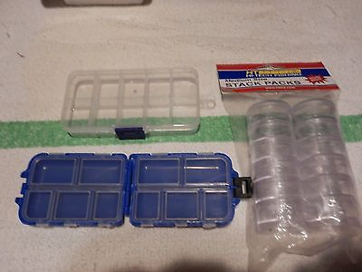 FISHING BOXES  ASST for  FLIES LURES 3 items
