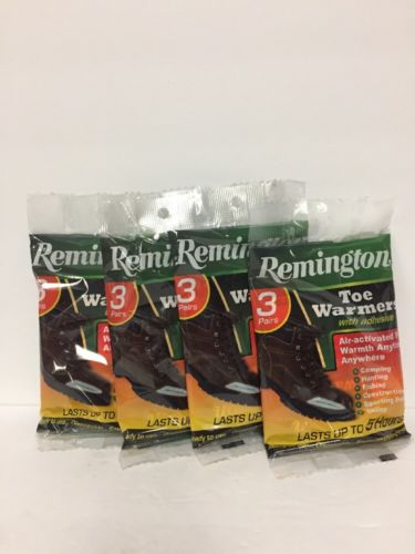 Remington Toe Warmers - Lot of 4 Packs of 3 Pairs Each - NEW in Package