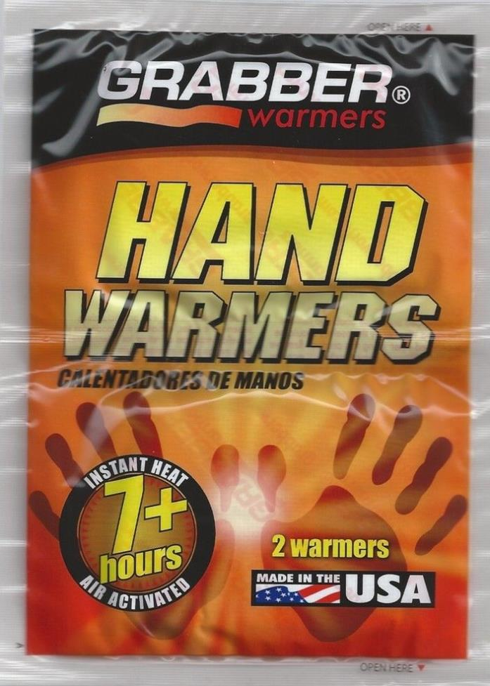 10 or 20 count Grabber Hand Warmers 2in x 3.5in. 7+ Hour Hand Warmer Made in USA