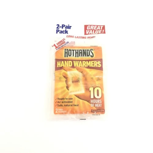 Hot Hands Hand Warmers 2 Pair Pack Air Activated New Up 10 Hours Of Heat