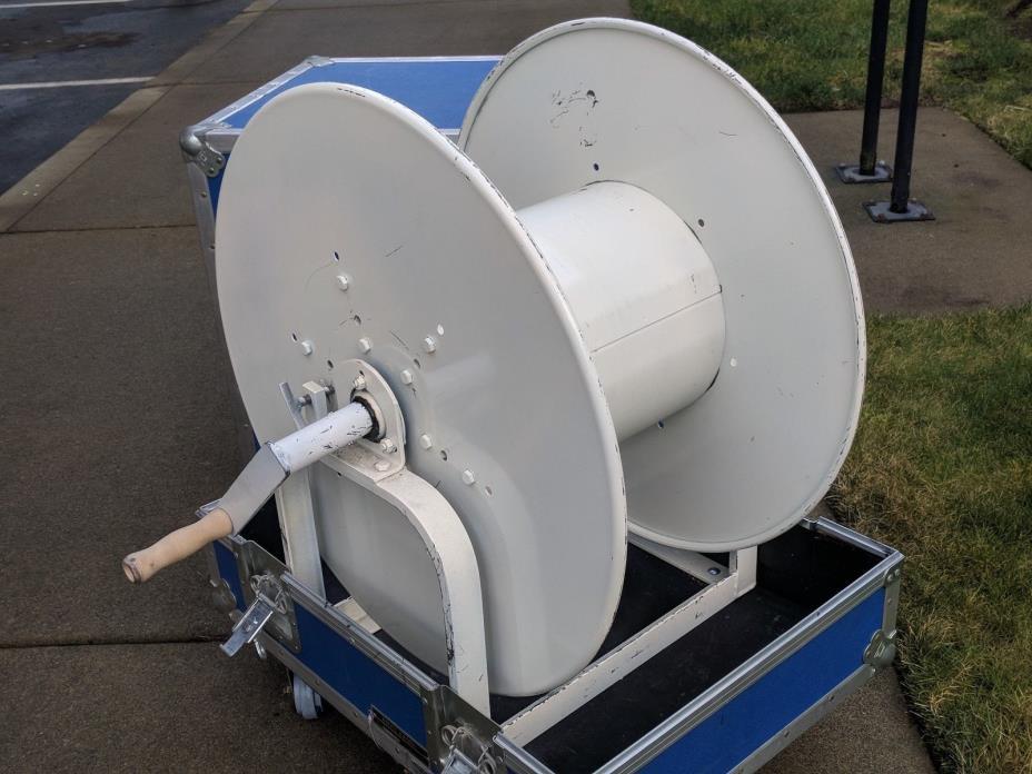 Anvil Case w/ Cable Reel Spool Audio Video mixer microphone speaker power ATA