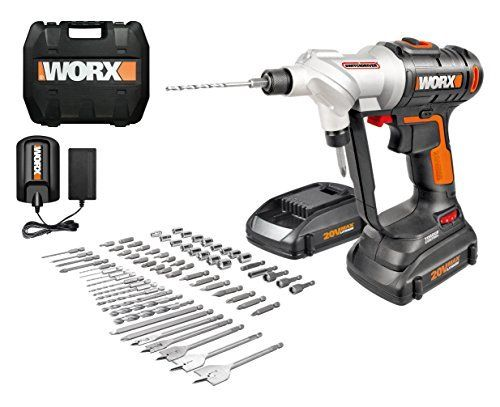 WORX Switchdriver 2-in-1 Cordless Drill and Driver with Rotating Dual Chucks