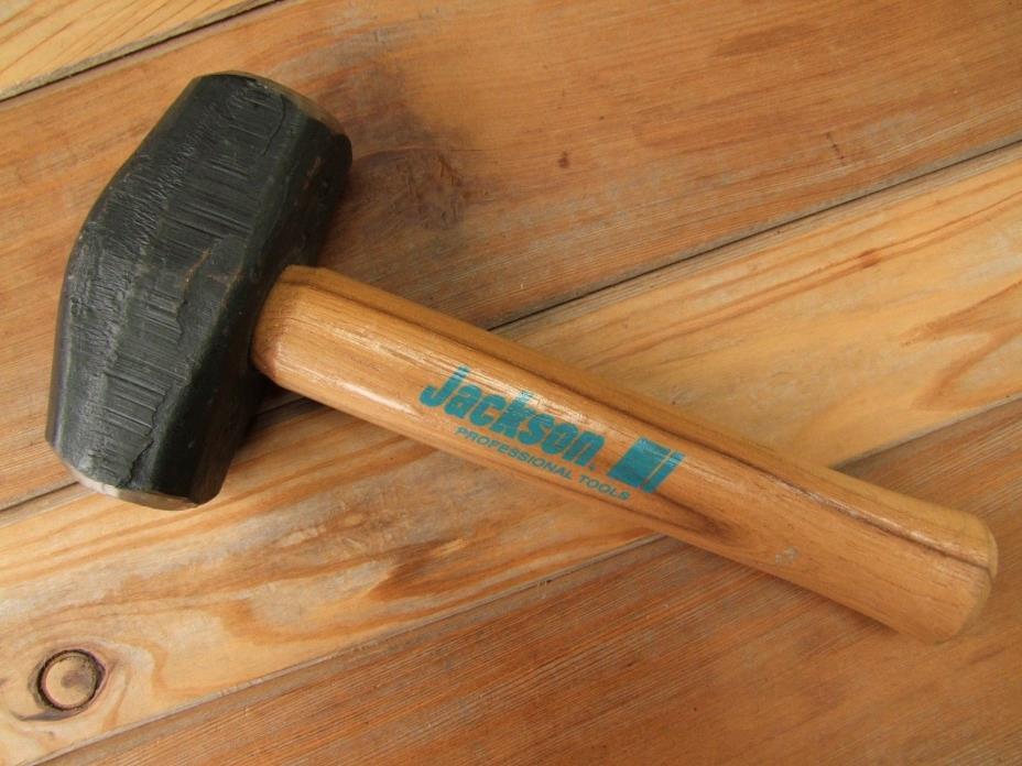 Jackson USA 4-Pound Hardwood Handle Hand Drill Hammer Sledge Smithing Tool