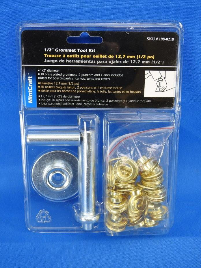 NEW MINTCRAFT 30 PIECE GROMMET BRASS PLATED DELUXE 1/2