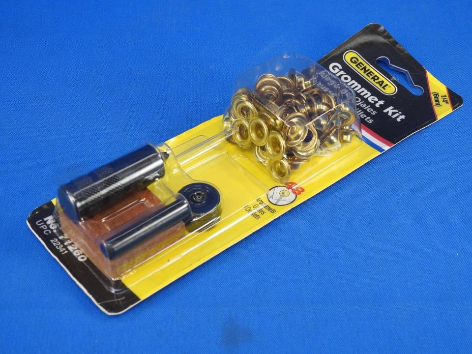 General Tools 71260 Grommet Kit with 48 Grommets, 1/4-Inch New