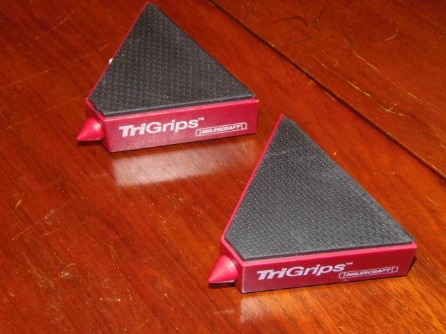 (2) TRI GRIPS - MILESCRAFT - WORK SUPPORTS    (BBLK-32)