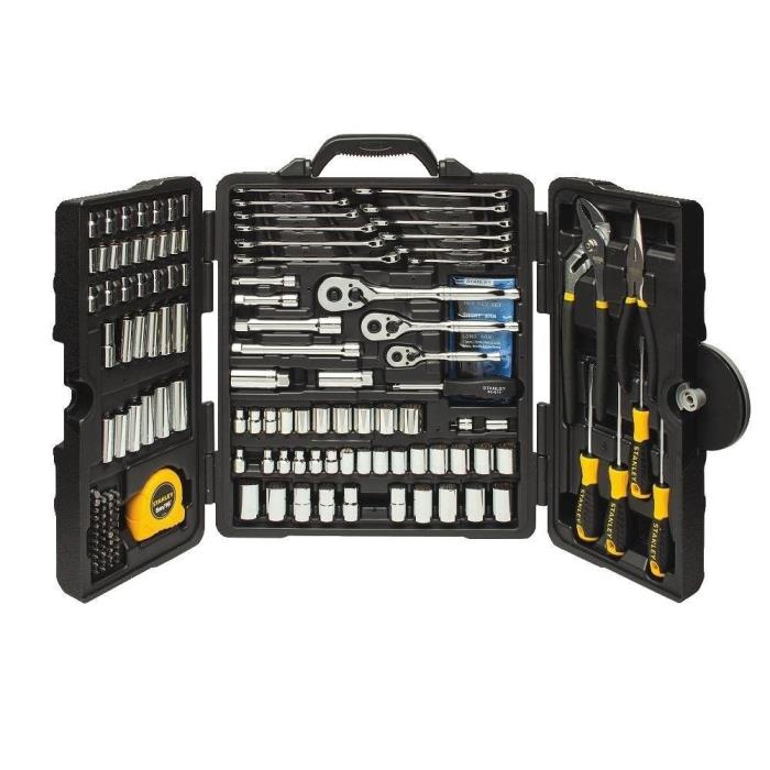 New Stanley 170 Piece Mixed Tools Set, Lifetime Warranty