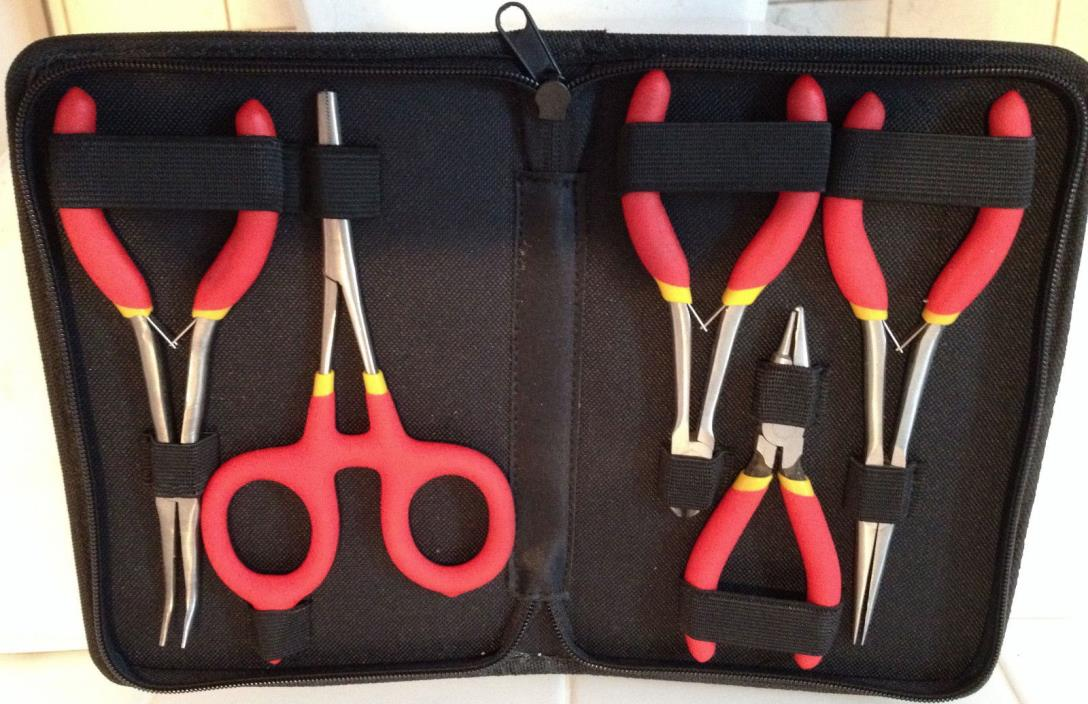 Cabela's 5 Piece Pliers Set - Never removed from case - Mint!