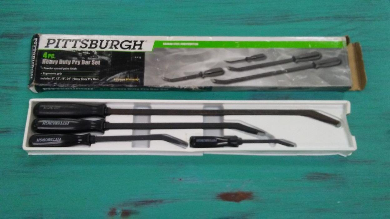 Pittsburgh 4 Piece Pry Bar Set / FREE SHIPPING
