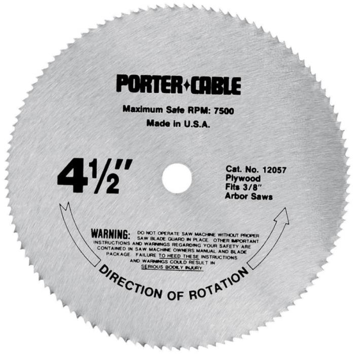 PORTER-CABLE 12057 4-1/2-Inch 120 Tooth TCG Plywood Cutting Saw Blade with 3/8-I